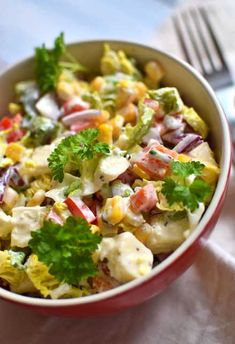 Mexican Food Recipes, Healthy Recipes, Ethnic Recipes, Kitchen Magic, Coleslaw, Cobb Salad, Potato Salad, Party, Food And Drink