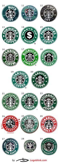 Parodias del logo Starbucks