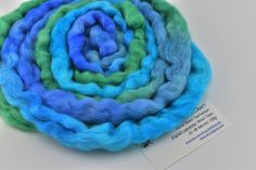 Wool Roving English Leicester Combed Wool Tops Rare Breed Tasmanian Grown Non Mulsed Spinning Felting Needle Felting Blue Green 100g 12092