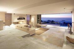 Stunning contemporary living room using the Milano ultra thin porcelain floor tiles.  #livingroomfloor #tiles