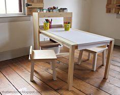 DIY Kids Art Center Worktable With Storage Shelves   Jaime Costiglio