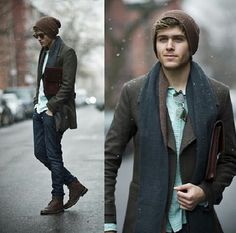 this is how every man should dress in the winter! :) it is a MAJOR attraction when I see guys dress nicely :)