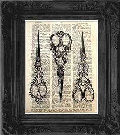 Vintage scissors illustration