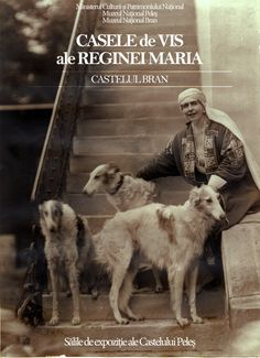 Queen Maria of Romania with three Borzoi, in the Castle of Bran. I Love Cats, Dog Love, Russian Wolfhound, Ghost Faces, Classic Image, Vintage Dog, Old Photos, Vintage Photos, Italian Greyhound
