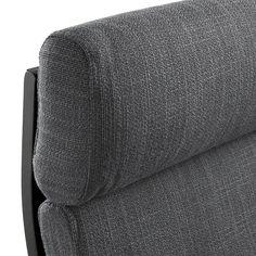 POÄNG Fauteuil - brun-noir, Hillared anthracite - IKEA Ikea, Mousse Polyuréthane, Bent Wood, Fabric Armchairs, Cushion Fabric, Polyurethane Foam, Wood Veneer, Chair Cushions, Cleaning Wipes