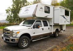 The 2015 Eagle Cap 960, a long bed, wet bath, hard side truck camper with a full-wall slide-out. http://www.truckcampermagazine.com/news/tcm-exclusive-2015-eagle-cap-960