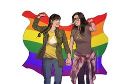 """plastic-pipes: """" Femslash February """"Elena and Syd from One Day at a Time """" all right, first entry is a little late but only by a few minutes where i am. One Day at a Time continues to be one of. Series Movies, Movies And Tv Shows, Supportive Friends, Lesbian Pride, One Day, Time Art, Cartoon Tv, Supergirl, Favorite Tv Shows"""