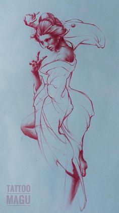 tattoo design geisha ,art work,drawing,sketch,prismacolro,japanese tattoo,tattoo flash,tattoo,tattoo shop,tattoo artist