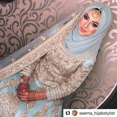 Inspiring Wedding Make Up Ideas with Arabic Style wedding dresses muslim hijab fashion Hijabi Wedding, Muslimah Wedding Dress, Asian Wedding Dress, Muslim Wedding Dresses, Muslim Brides, Pakistani Bridal Dresses, Wedding Abaya, Muslim Fashion, Hijab Fashion