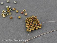 Dracconis – smocze kolczyki – tutorial   Royal-Stone blog Handmade Beaded Jewelry, Beaded Jewelry Patterns, Beading Patterns, Beading Techniques, Beading Tutorials, Bead Jewellery, Bead Earrings, Bead Crafts, Jewelry Crafts