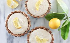 Raw Meyer Lemon Tarts [Vegan, Gluten-Free] | One Green Planet