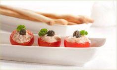 Pomodori e mousse di tonno