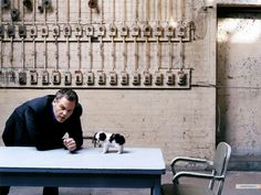 Favorite actor of all time. Vincent D'Onfrio. And with a puppy! Who could resist? :)