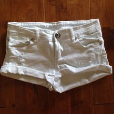 Selling this ✨Distressed White Denim Shorts w/ Jewels✨ in my Poshmark closet! My username is: mknutson21. #shopmycloset #poshmark #fashion #shopping #style #forsale #Rue 21 #Denim