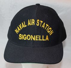 Snapback Hat, Naval Air Sttion Sigonella, Made in USA,  #Cap