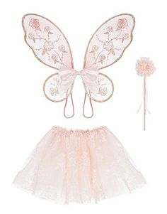 Enhance her dress-up moments with our Ballerina set for girls. This scrumptious pack is complete with a puffy lace tutu and wand, and a glittery pair of wing...