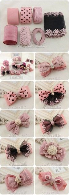 Look at these adorable cute bows. These would be great on all kinds of occasions!
