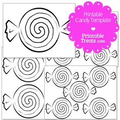 Printable Candy Templates from PrintableTreats.com