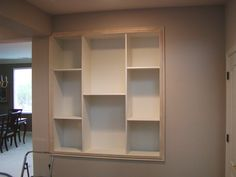 Built in shelving: Great idea for a wash stall, no bumping into the shampoo or hitting your head on the shelf