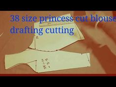 hello friends welcome to Sabita fashion in this video i have shown a step by step method of drafting, cutting a princess cut blouse 38 size in an easy method. Simple Blouse Designs, Blouse Back Neck Designs, Dress Designs, High Neck Saree Blouse, Sari Blouse, Stitching Classes, Princess Cut Blouse, Princes Dress, Blouse Tutorial