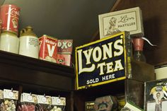 Lyons Tea - enamelled sign inside Rose & Co. Apothecary, Haworth  www.roseandcompany.com