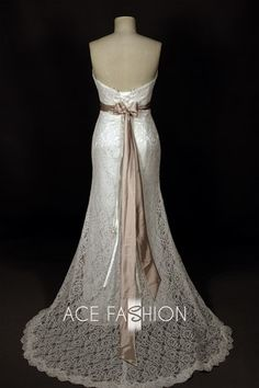 Vintage+Inspired+Lace+Dresses | Vintage Style All Over Lace Slim A-Line Style Strapless Wedding Dress ...