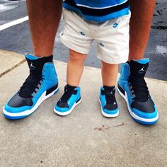 Father and son matching Jordan's!