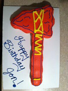 Atlanta braves cake...too funny for Eric's surprise groom's cake
