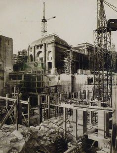 Construction du Palais de Chaillot, 1878. Paris