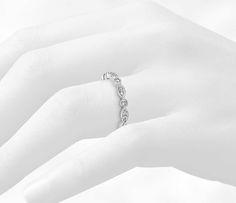 Milgrain Marquise and Dot Diamond Ring in 14k White Gold (1/5 ct. tw.)