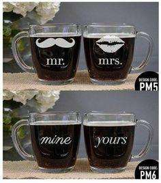 customized 13oz clear mug Php 340/pair