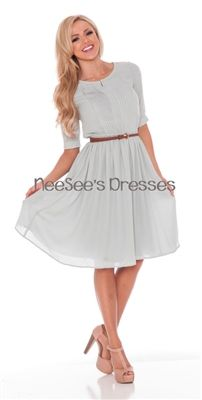 The Clara dress by Mikarose is a must have for your wardrobe! Can be dressed up or down depending on your accessories. Available in sage or light pink this dress features 3/4 length sleeves, a t-shirt style look with a pleated top and flowy skirt.
