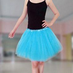 Tylová tutu sukně pro dospělé a starší dívky černá - NANO móda b0ef7e7cfa