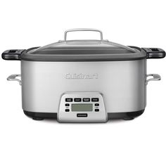 Cuisinart Cook Central 4 in 1 Multi-cooker 7 Quart Stainless Steel UPC - 086279036445 Electric Pressure Cooker, Multicooker, Slow Cooker Beef, Brushed Stainless Steel, Small Appliances, Specialty Appliances, Kitchen Appliances, Food Preparation, Black Metal