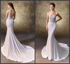 Appliques Bridal Dress Cheap Price Iullsion Sexy Bateau Neck Iullsion Covered Bottons Wedding Sleeveless Count Train Custom Made Formal Lace Bridal Dresses Mature Wedding Dresses From Lovemydress, $114.5| Dhgate.Com
