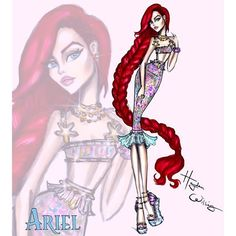 """Hayden Williams on Instagram: """"#DisneyDiva \'Fashionistas\' by Hayden Williams: #Ariel  Ariel was definitely the popular name on the previous post. She is the last in the…"""""""