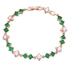 Find More Charm Bracelets Information about Love Gift Glam Luxe Mysterious 18K Rose Gold plated Bracelets & bangles green Zircon Peridot stones  B070,High Quality bangles lot,China bangle set Suppliers, Cheap bangle stand from Dana Jewelry Co., Ltd. on Aliexpress.com