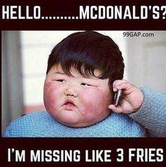 Memes to Make You Smile Memes Humor, Fat Memes, Fat People Memes, Funny Fat People, Diet Humor, Funny Shit, The Funny, Funny Jokes, Funny Asian Memes