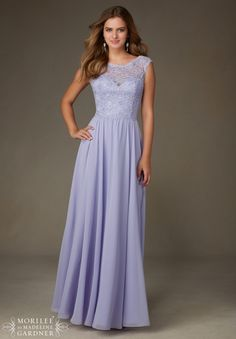Mori Lee Bridesmaids Dress 125 Beaded Lace with Chiffon