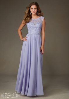 Mori Lee Bridesmaids Dress 125 Beaded Lace with Chiffon