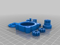 Compact planetary gearbox by Trigubovich - Thingiverse 3d Design, Print Design, Design Files, Cnc, Print 3d, 3d Things, Stepper Motor, Woodworking Workshop, Arduino