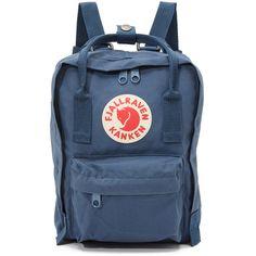 Fjallraven Kanken Mini Backpack (€58) ❤ liked on Polyvore featuring bags, backpacks, royal blue, logo backpack, patch backpack, mini bag, day pack backpack and blue backpacks