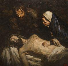 """The Entombment"". 100х100 cm, oil on canvas, 2015. Anatoly Shumkin."