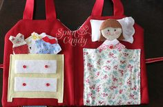 The SpunCandy Doll House Quiet Book by MelissaMullinax, custom dolls, felt dolls, quiet book, travel dollhouse