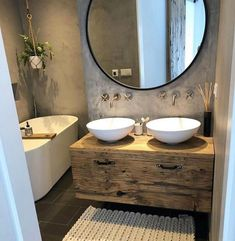 The bathroom is crucial to the livability of a home. If a bathroom doesn't function well, it can be a source of stress and discomfort. Furthermore, the bathroom more than any other room is susceptible to change as your family changes. Bad Inspiration, Bathroom Inspiration, Small Bathroom, Master Bathroom, Mirror Bathroom, Bathroom Ideas, Bathroom Spa, Bathroom Pendant Lighting, Bathtub Decor