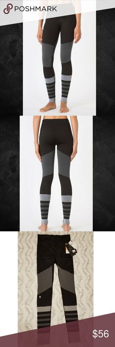 🆕️ MPG SLATE GREY FORGE LEGGING Sz M-L BRAND NEW WITH TAGS!! MPG SLATE GREY FORGE LEGGING!  SIZE: M-L  Don't let the pretty color-blocking fool you; this is a serious workout legging. Made with Infinity 360 technology, the zero show-through style cools while ensuring chafe-free movements. TECHNICAL SPECS: Fabric: Flat Knit Construction - 65% Nylon 27% Polyester 8% SpandexMoisture-wicking yarnsSoft touch elasticated waist bandZero show through. MPG Pants Leggings