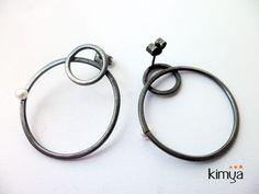In Orbit I | SILVER Stud Earrings With Pearl