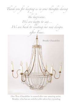 Brooke Chandelier by Julie Neill...