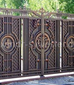 Кованые ворота - фото. #ковка #кузня #художественнаяковка #кованыеворота #ковка #кованые #дизайн #alexandrsylvester #студияковки #воротакованые