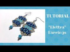 """Tutorial: Come realizzare un paio di orecchini """"Elettra"""" con superduo, cipollotti e rocailles - YouTube"""